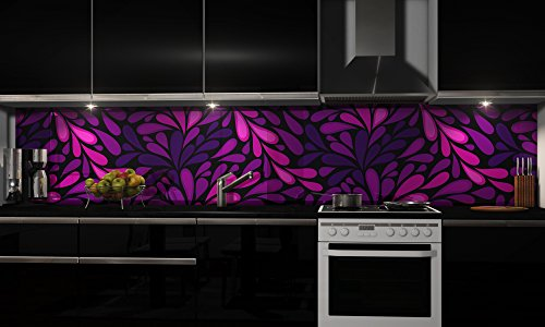 Küchenrückwand Folie selbstklebend Musterfolie Designfolie Klebefolie Dekofolie Spritzschutz Küche verschiedene Größen