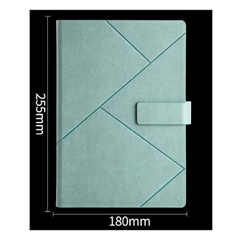 langchao high-end diario notepad creative a5 notebook set b5 business notebook Hebilla de crimpado B5 azul y verde