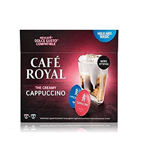 Café Royal Cappuccino 48 capsules Compatibles avec le système Nescafé (R)* Dolce Gusto (R)* - Nouveau: plus de crème et plus de goût - Lot de 3X16