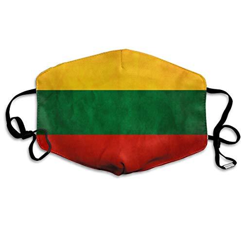 Litouwen Vlag Unisex Volledige Coverage Buis Gezichtsmasker Bandanas UV Bescherming Hals Gaiter Hoofdband