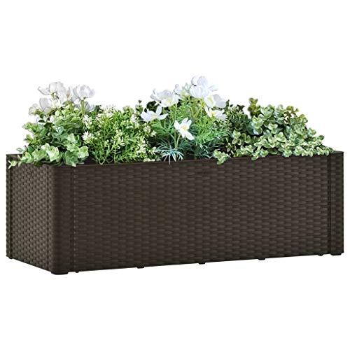 Garten-Hochbeet mit SelbstBewässerungssystem ,Hochbeet Pflanzbeet Kräuterbeet Blumentopf Blumenkasten Blumenkübel für Garten Balkon