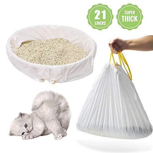"""Katzenklo Katzenstreutasche Beutel Für Tablett Sand Beutel Kotbeutel,Katzentoiletten Einlagen Kordelzugbeutel,3 Tüten (21 Stück), Geruchsneutral, Einfache Reinigung, Umweltfreundliche,31.5""""x17.7"""""""