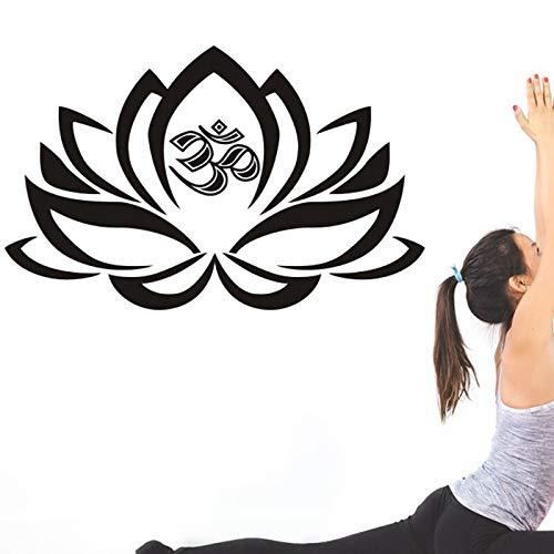 ONETOTOP Frases de Buda Namaste Pegatinas de Pared Yoga Mandala Pegatinas de Pared Sala de Estar DIY Decoración del hogar Yoga Lotus D