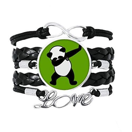 OFFbb-USA - Pulsera de bambú para la postura de la comida, accesorio de amor trenzado de cuero, regalo