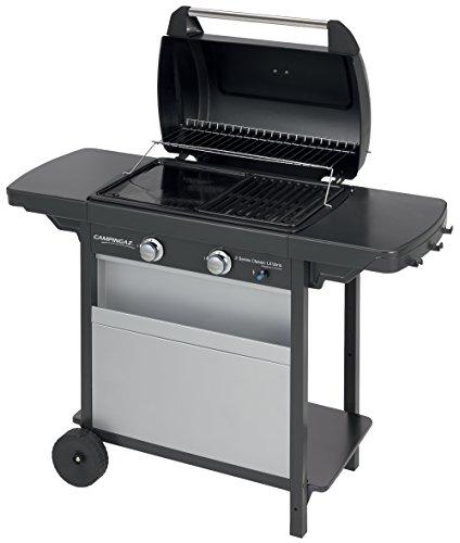 Campingaz Barbecue à Gaz Class 2 LX Vario, 2 Brûleurs, Puissance 7.5kW, Grille et Plancha en Acier...