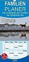 Hunde aus aller Welt - Familienplaner hoch (Wandkalender 2022 , 21 cm x 45 cm, hoch): Hunde aus aller Welt vor markanten Hintergruenden (Monatskalender, 14 Seiten )