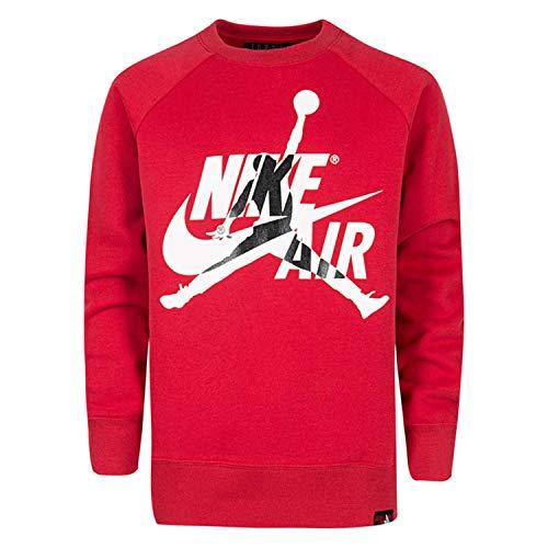 Nike Jumpman Classics Crew 956287-R78 - Sudadera para niño, Color Rojo