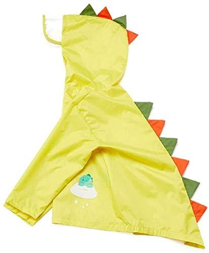 Childrens Waterdicht Regenpak, All In One Dry Suit om buiten te spelen.Ideaal bovenkleding for jongens en meisjes kinder T-Regenponcho 3D Cute Animal Design Transparant hoedrand