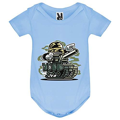 LookMyKase Body bébé - War Tank - Bébé Garçon - Bleu - 18MOIS