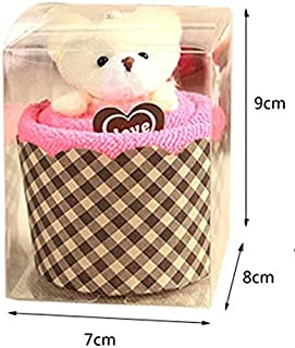 Pootshop 10 pcs in Retail Box Creative Lovely Mini Bear Cup Cake Towel Cotton Hand Towel Face Towel Party Gifts