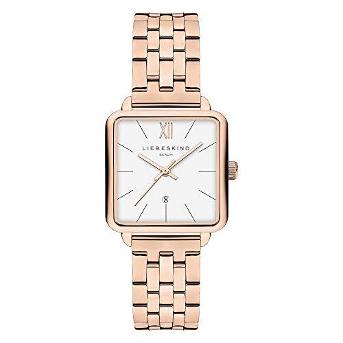 Liebeskind Berlin Damen Analog Quarz Uhr mit Edelstahl Armband LT-0176-MQ