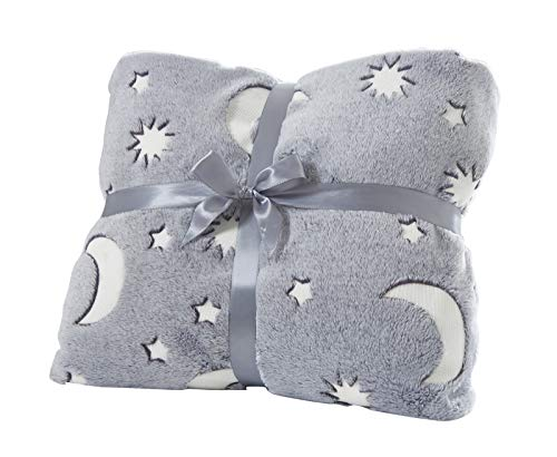 Kids Blanket 50''x60'', Super Soft Cozy Velvet Star Shining Luminous Blanket, Glow in The Dark Blanket Couch Blankets and Throws Birthday Gift