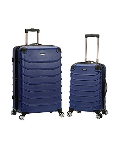 Rockland Speciale Hardside 2-Piece Expandable Spinner Luggage Set, Blue