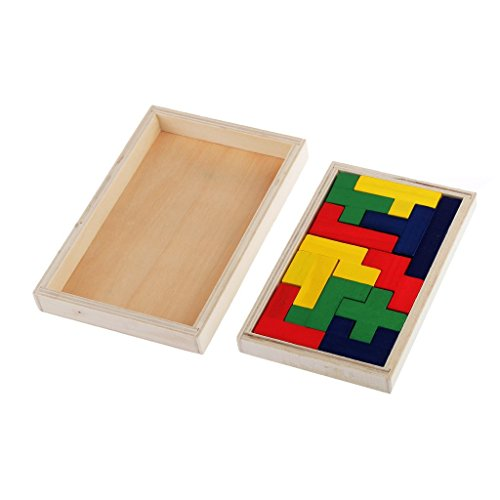 Flormoon Pentomino Puzzle aus Holz, Gehirn Teaser Mind Neuheit Trick Kinder Lernspielzeug