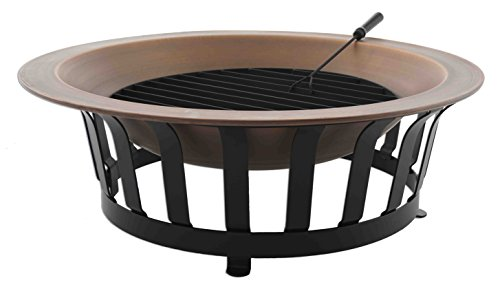 Titan 40' Solid 100% Copper Fire Pit Bowl Wood Burning Patio Deck Grill