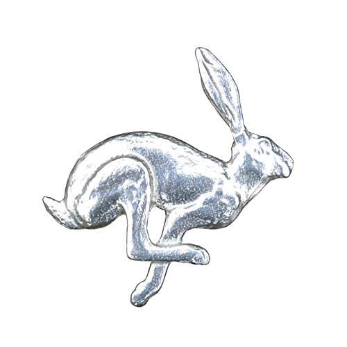 Hare Brooch, March Hare Brooch, Hare Jewelry, Hare Jewellery, Handmade, by William Sturt, in, Fine Pewter