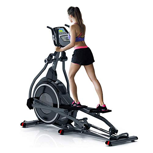 ZDMSEJ Home Professional Elliptical Cross Trainer, Cardio Home Office Fitness Workout Machine with Quiet Brake System for Fitness Training Muscle Building Weight Loss