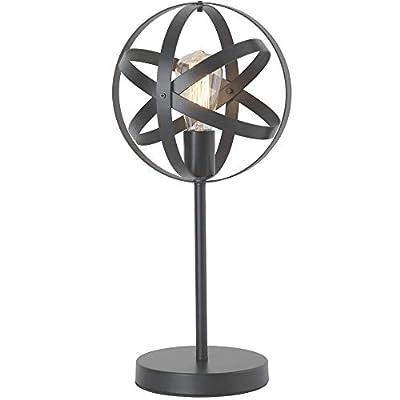 Upgrade Industrial Globe Table Lamp, Metal Spherical Desk Lamp for Nightstand, Vintage Edison Reading Lamp for Bedroom, Living Room, Dorm, E26 by LIUSUN LIULU