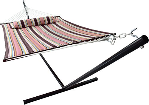 Sorbus Hammock with Stand & Spreader Bars and Detachable...