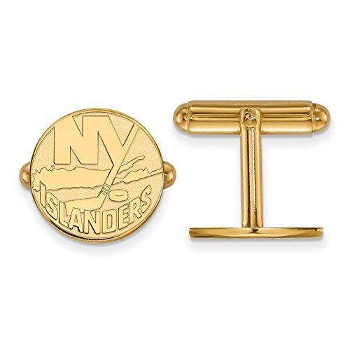 New York Islanders Cuff Links (14k Yellow Gold)