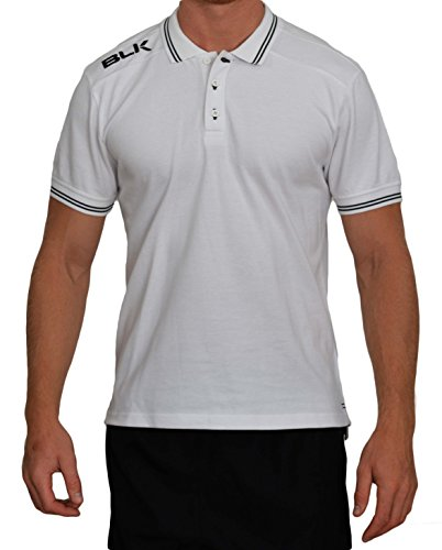 BLK 420250007 Polo Homme, Blanc/Noir, FR (Taille Fabricant : 4XL)