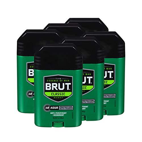 BRUT, Antiperspirant Deodorant, Solid, Classic, 2 oz., (6 Pack)