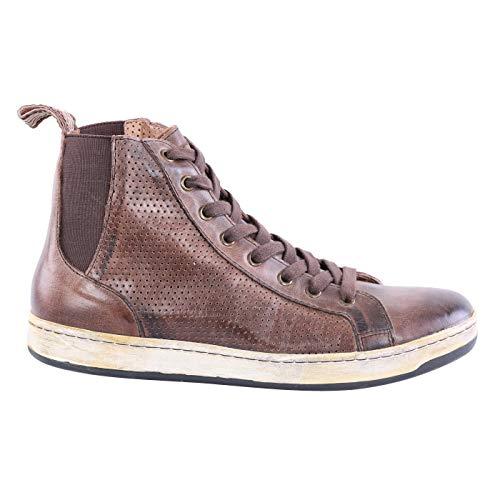 Matchless Damen Leder Sneaker Schuhe Brighton HIGH Vent Brown 142021 Größe 37