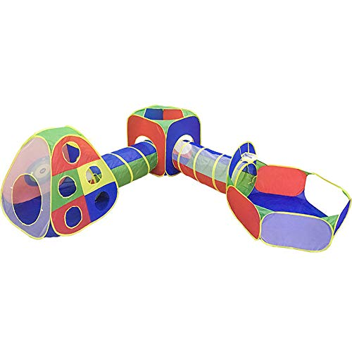 JHKGY 5 Tiendas De Campaña Y Túneles para Niños,Túneles Y Aro De Baloncesto,Regalo Interior Al Aire Libre,Bolas De Pozo NO Incluidas,para Niñas, Niños, Bebés, Niños Y Niños Pequeños