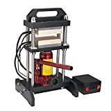 Tech-L Hydraulic Heat Press Machine 10 Ton 600W Dual Aluminum Plates Heat 3.55'x5.55' Heat Press Plate with Temperature Controller Box