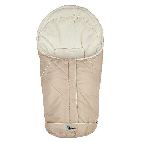 Altabebe Nordic - Saco de invierno para silla de coche, 0-12 meses, color beige/blanco