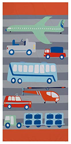 Grande Toalla de Playa XXL para Niños,Secado Rápido Absorción Microfibra, Excavador,Carro,Aeronave Patrón Toalla de Baño,para Viajes, Natación, Cámping (Color 2, 75 × 150 cm)