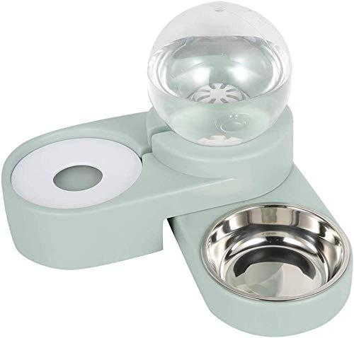 YYHJ comedero para Perros alimentador de Mascotas Juego de Cuenco de Agua y Comida cinturón Antideslizante Botella de Bebida automática para Gatos y Perros pequeños