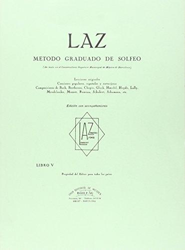 LAZ con acompañamiento - Libro V: Método graduado de Solfeo