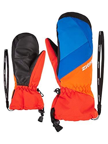 Ziener Kinder Agilo As(r) Mitten Ski-handschuhe, new red.bright orange, 3.5