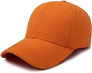 New Fashion Clothing Accessories Outdoor Sun Hat Wild Breathable Hat Spring Summer Baseball Cap Casual Sports Cap(white) (Color : Orange)