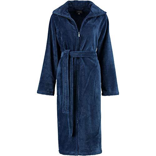 LAGO Bademantel Damen Kimono 804 Nachtblau - 11 M