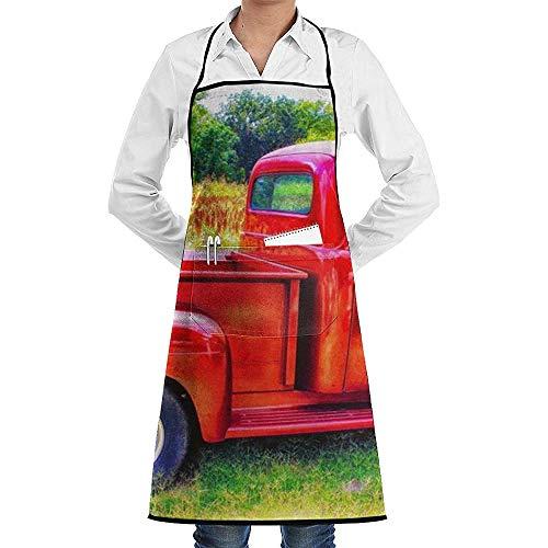 Katrine Store Tablier de cuisine de jardin de cuisine de cuisine de faction de camion rouge de cerise de Noël