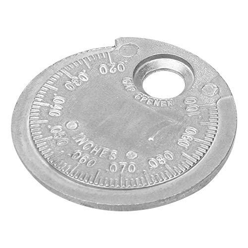 iTimo Herramienta de medición de calibrador de bujías Gap Gauge 0,6-2,4 mm/0,020-1,00 pulgadas Rango Tipo Moneda Bujía de aleación de aluminio