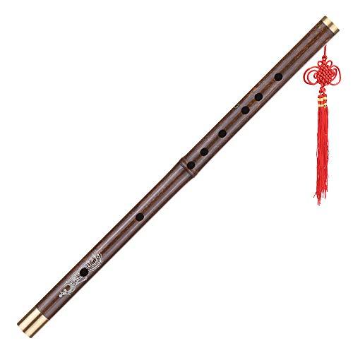 Kalaok Professionelle schwarze Bambus Dizi Flöte Traditionelle handgemachte chinesische Musikholzblasinstrument Tonart C-Studie Stufe