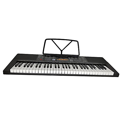 Digital Electric Piano/Keyboard with 61 Weighted Hammer Action Keys, Premium Voices and Built in Speakers