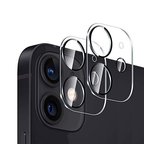 GEEMEE per iPhone 12 Mini Camera Vetro temperato, Anti Graffi HD Trasparenza Fotocamera Protettiva Screen Protector Film per iPhone 12 Mini(5,4'-Transparente