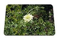 22cmx18cm マウスパッド (花白草植物) パターンカスタムの マウスパッド
