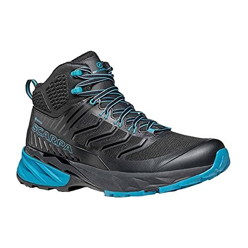 Scarpa Rush Mid GTX, Zapatillas de Trail Running Hombre, Black-Ottanio Gore-Tex SHCM Free Dome, 40 EU