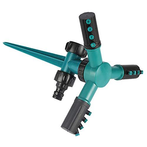 HSJLH Sprinkler, verstellbare Sprinkleranlage angeordnet Formel Trigeminus 360 ° Plus automatische Drehung lecksichere Gestaltung geeignet für Aussenanlagen Spitzen-Unterseite