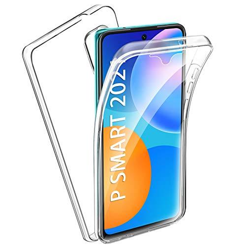 AROYI Huawei P Smart 2021 Hülle 360 Grad Handyhülle, Silikon Crystal Full Schutz Cover [2in1 Separat Hart PC Zurück + Weich TPU Vorderseite] Vorne & Hinten Schutzhülle für Huawei P Smart 2021