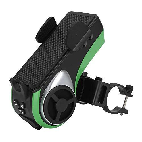 Bicaquu Altavoz Bluetooth, Impermeable, Multifuncional, Bicicleta, Audio, Altavoz de latón, Soporte para teléfono, Faro, Banco de energía