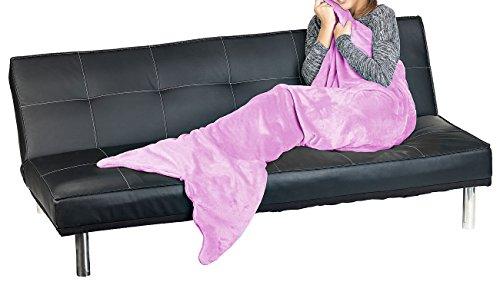 Wilson Gabor Kuscheldecke: Weiche Meerjungfrau-Decke mit Flosse für Kinder, 140 x 60 cm, lila (Kuscheldecke Meerjungfrau)