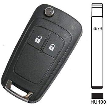 Sharplace Clave Remoto 2 Botones de 433MHz Chip ID46 Entrada sin Llave Reemplazo para Chevrolet Cruze