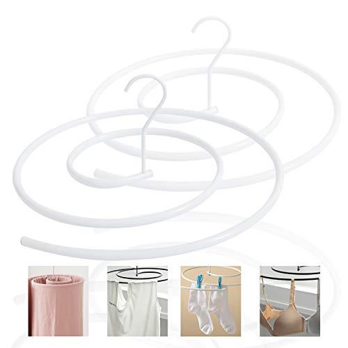 SakuHaku 2020最新 多機能ハンガー 螺旋ハンガー シーツカーテンタオル 室内乾燥 衣類乾燥 乾燥防錆保存に便利です 2pc (ダブル)