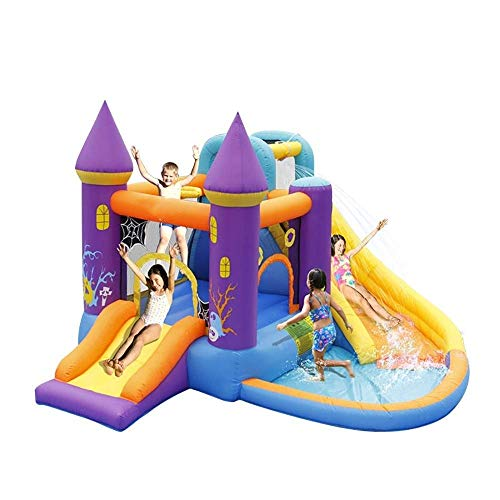 LHAHGLY Air cushion castle Kids Bouncy Castle Inflatable Bouncer and Slide Inflatable Jumper with Airflow Fan Inflatable castle baby swing (Color : Inflatable Castle, Size : 350x315x210cm)